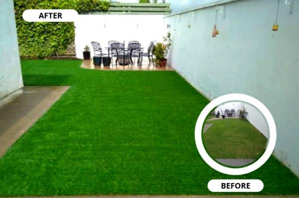 Artificial grass garden in Wicklow