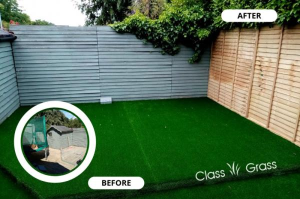 Artificial grass on slippy Dublin deck