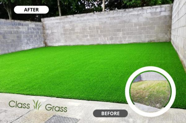 Lush Green Artificial Grass Garden in Meath