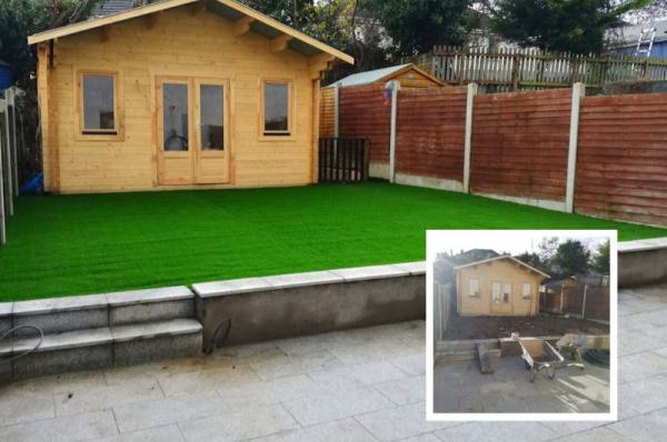 Testing artificial grass project in Dublin