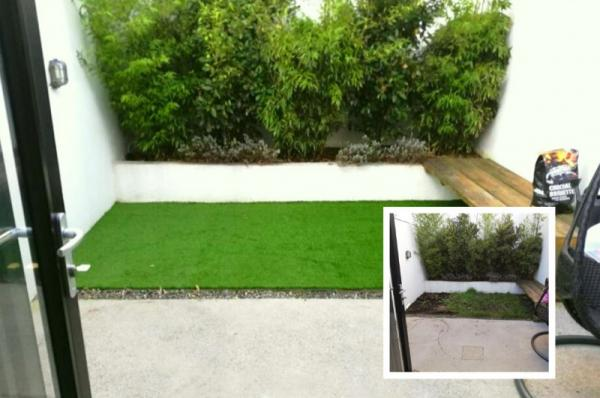 Small Backyard  Dublin - An Artificial Grass Transformation
