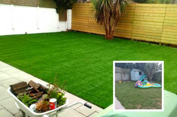 Dublin Garden gets an Artificial Grass Makeover