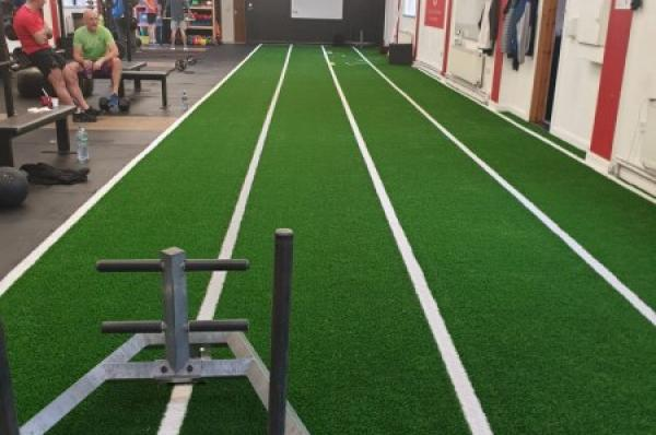 Artificial Grass Track in Galway City Gym