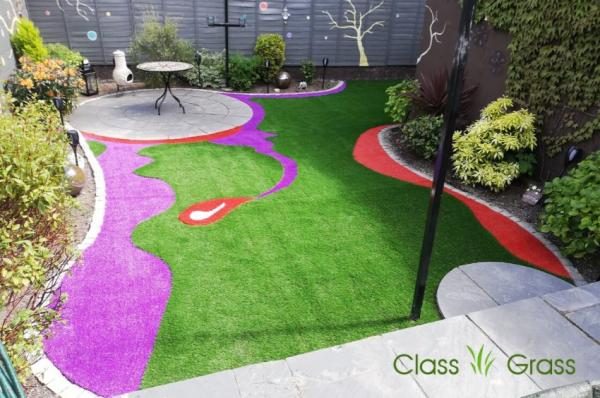 Artistic Artificial Grass Backyard Dublin
