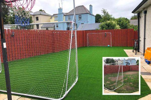 Natural-looking artificial lawn instead of bald patches