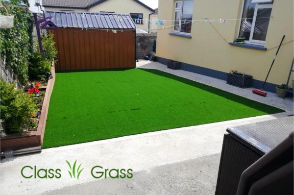 Tidy Backyard with Artificial Lawn in Galway
