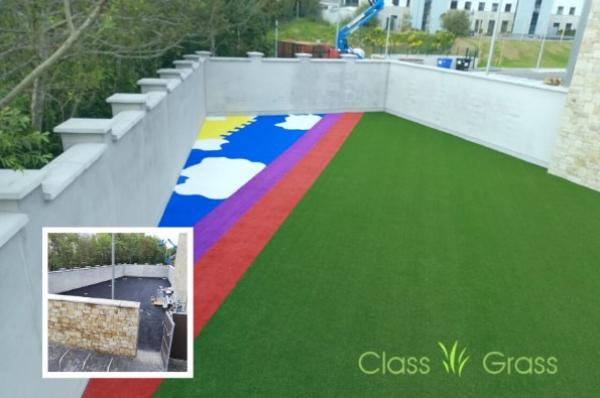 Soft Artificial Playground Grass in Galway