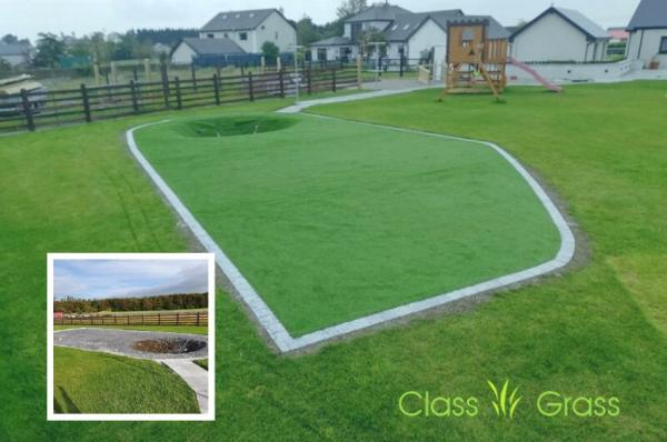 Synthetic Grass Play Area for Bouncer