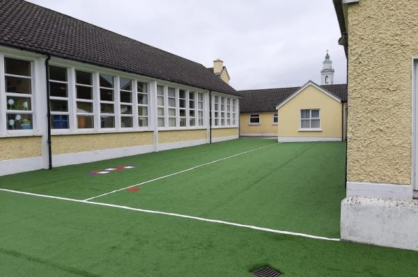 Large School Project in Tipperary with coloured Artificial Grass
