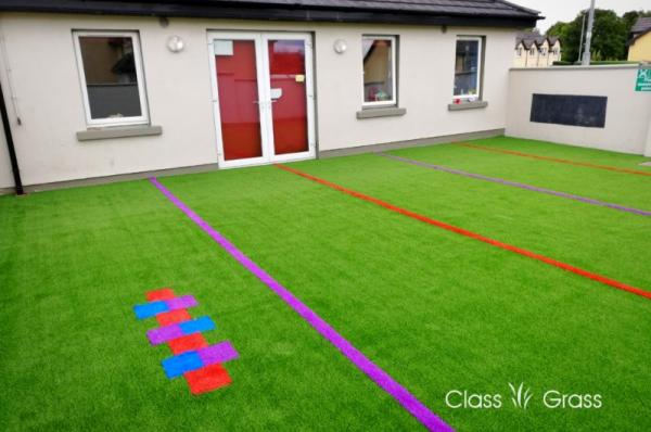 Colourful artificial grass for Ennis Creche