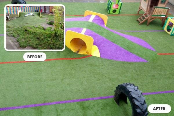 Buttons n Bows Childcare, Artificial Grass play area, Galway, Ireland